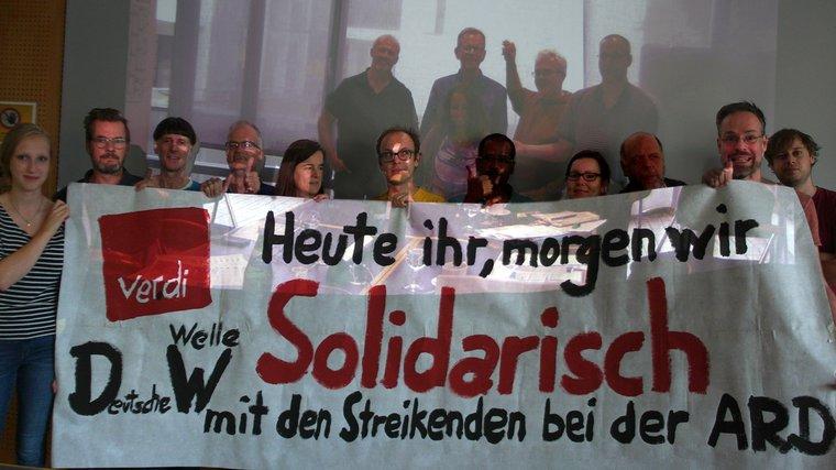 Solidarität mit Streik ARD